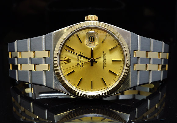 ROLEX 1984 Datejust Oysterquartz, Steel & Gold,17013, MINT, Box & Papers