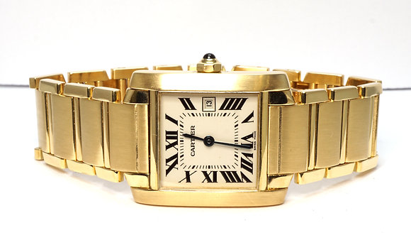 CARTIER Tank Francaise, 2466, 18ct Yellow Gold, Mid Size, Boxed