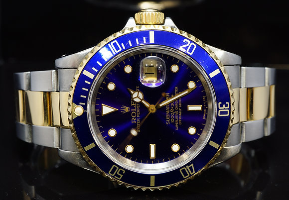 ROLEX 1991 Submariner Date, Steel & Gold, 16613, Boxed