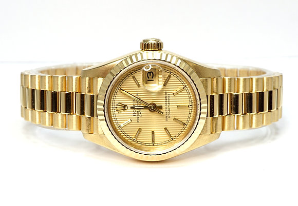 ROLEX 1987 Datejust 26, 18ct Yellow Gold, 69178, President Bracelet, Boxed