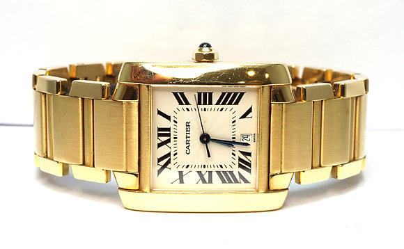 CARTIER 1996 Tank Francaise, W50001R2, 18ct Yellow Gold, Box & Papers