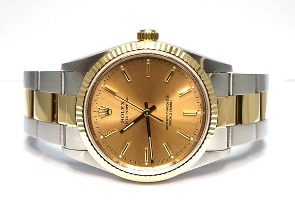 ROLEX 2002 Oyster Perpetual 34, 14233m, Steel & Gold, Box & Papers