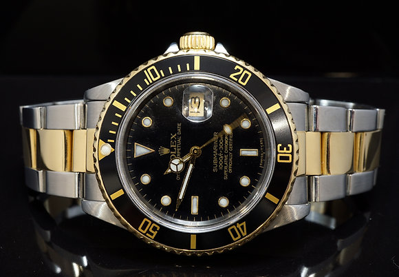 ROLEX 1984 Submariner, Steel & Gold,  16803, Serviced by Rolex 02/19, Boxed