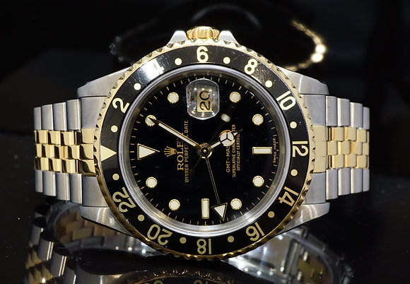 ROLEX 1998 GMT Master II, Steel & Gold, Box & Papers