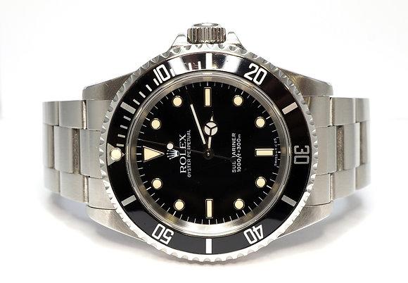ROLEX 1991 Submariner Non Date, 14060, Tritium Dial, Boxed