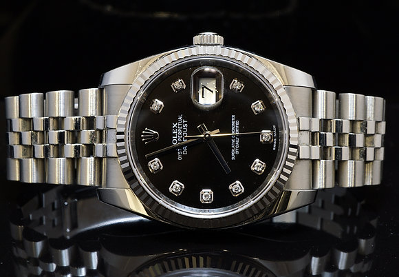 ROLEX 116234 Datejust, Diamond Dot Dial, 2016, Box & Papers, MINT