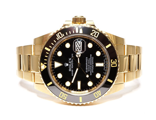 ROLEX 2009 Submariner, 116618LN, 18ct Yellow Gold, Box & Papers