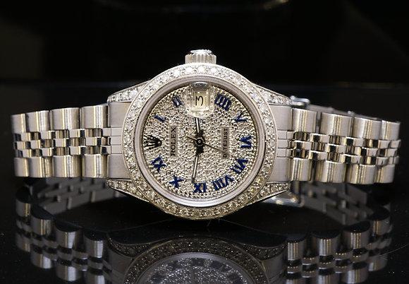 ROLEX Ladies Datejust, Diamond Case, Dial & Bezel