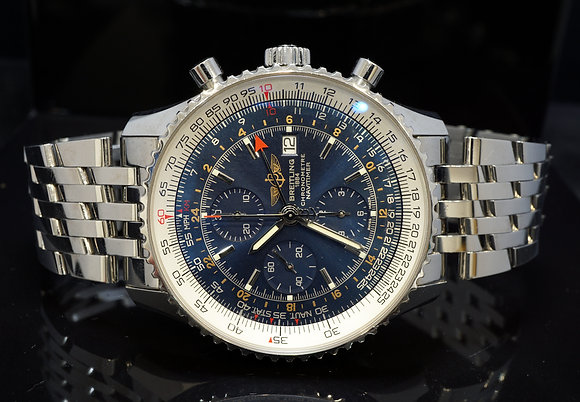 BREITLING 2016 Navitimer World, A24322, Blue, Box & Papers