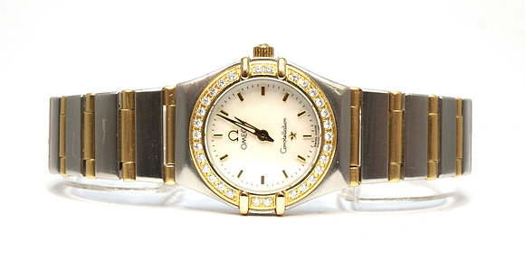 OMEGA Constellation, Steel & Gold, Diamond Bezel, Mother of Pearl Dial, Boxed