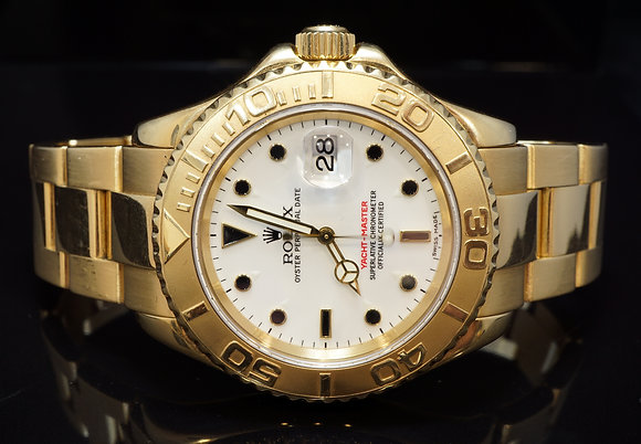 ROLEX 2002 40mm Yacht-Master, 18ct Yellow Gold, 16628, Box & Papers