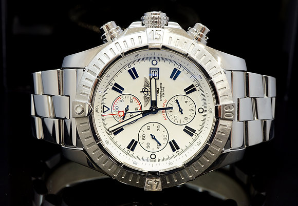 BREITLING 2009 Super Avenger, Steel, A13370, Box & Papers