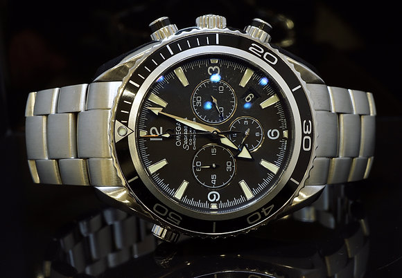 OMEGA 2008 Planet Ocean Chronograph, 22105000, MINT, Box & Papers
