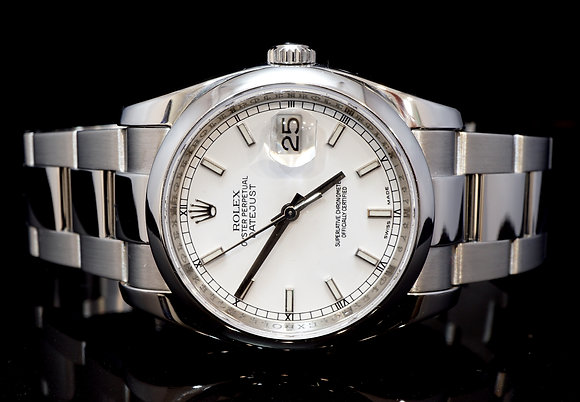 ROLEX 2009 36mm Datejust, Steel, 116200, Box & Papers