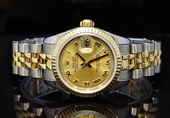 ROLEX 2007 26mm Datejust, Steel & Gold, 179173, Box & Papers