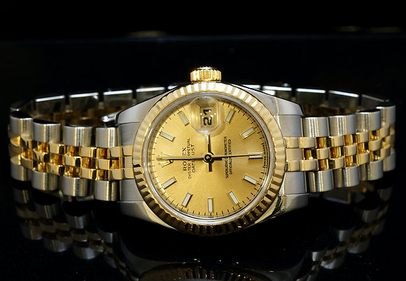 ROLEX 2010 26mm Datejust, Steel & Gold, 179173, Box & Papers