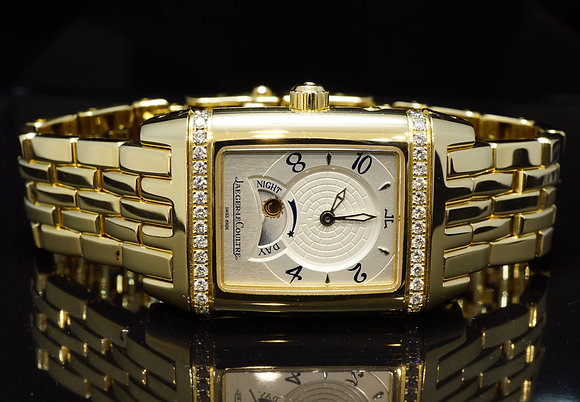 Jaeger LeCoultre 2009 Duetto Reverso, Night Day, 18ct Gold, 296.1.74, MINT, B&P