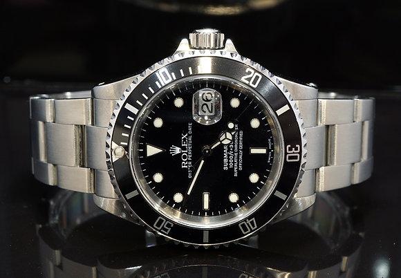 ROLEX 2002 Submariner Date, 16610, Steel, Boxed