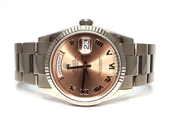 ROLEX 2006 Day-Date 36, 118239, 18ct White Gold, Oyster Bracelet, Boxed