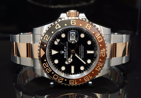 """ROLEX 2018 GMT Master II """"Rootbeer"""", 126711CHNR, Steel & Rose, Box & Papers"""