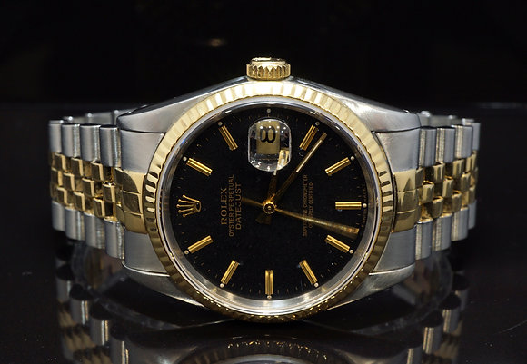 ROLEX 1991 36mm Datejust, Steel & Gold, 16233, Boxed