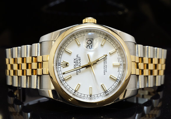 ROLEX 2012 36mm Datejust, Steel & Gold, Box & Papers