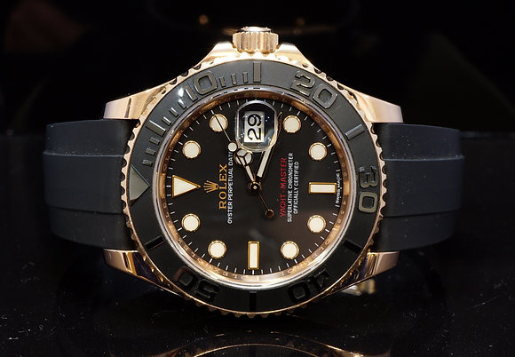 ROLEX 2015 40mm Yacht-Matster 18ct Rose Gold, 116655, MINT, Box & Papers