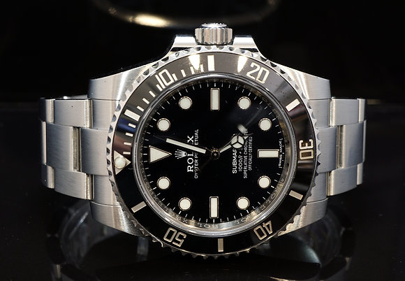 ROLEX 2017 Submariner Non Date, 114060, Steel, Box & Papers