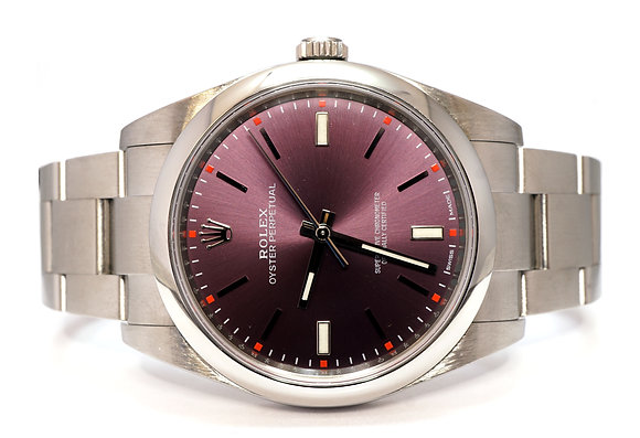 ROLEX 2017 Oyster Perpetual 39, 114300, Red Grape, Box & Papers