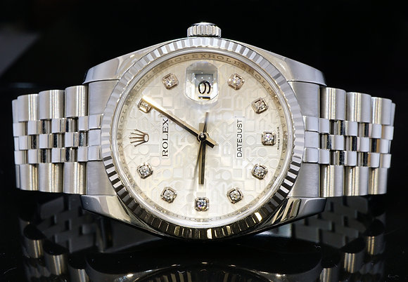 ROLEX 2013 36mm Datejust, Steel, 116234, MINT, Box & Papers