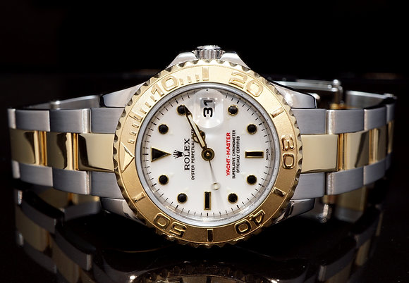 ROLEX 1999 Yacht-Master 29, Steel & Gold, 169623, Box & Papers