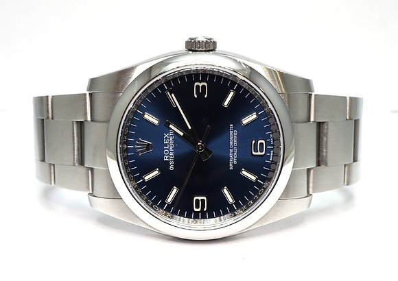 ROLEX 2019 Oyster Perpetual 36, 116000, Blue Baton, Box & Papers