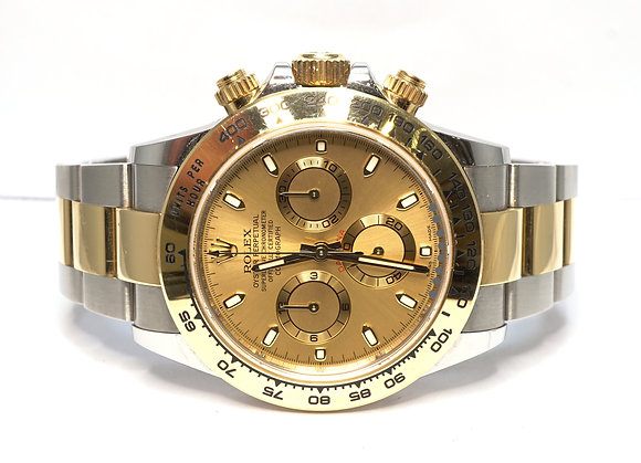 ROLEX 2018 Daytona, 116503, Steel & Gold, Champagne Dial, Box & Papers