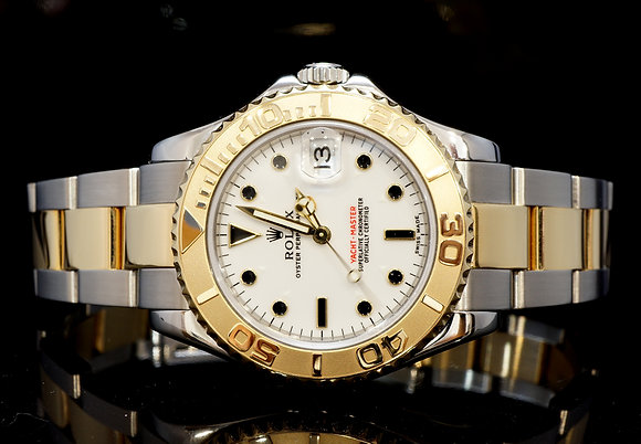 ROLEX 2005 35mm Yacht-Master, Steel & Gold, 168623, Serviced, Box & Papers