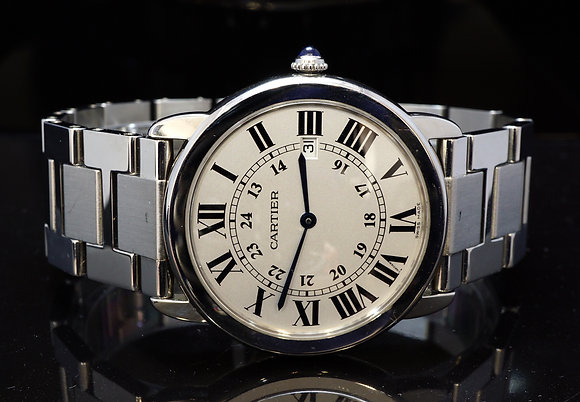 CARTIER 36mm Ronde Solo Quartz, W6701005, Excellent Condition, Boxed