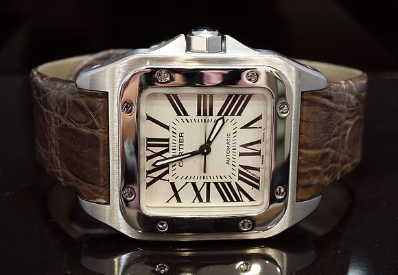 CARTIER 2006 Santos 100, Steel, W20106X8, Box & Papers
