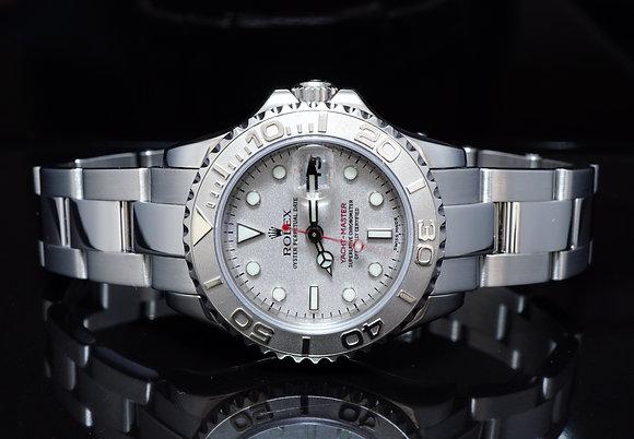 ROLEX 2002 Yacht-Master, Steel, Platinum Bezel, 169622