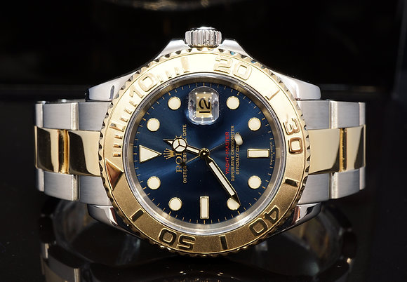 ROLEX 2005 Yacht-Master 40, Steel & Gold, 16623, Blue, Boxed
