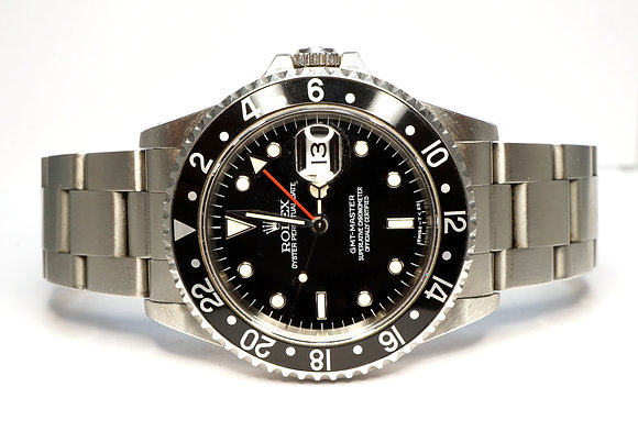ROLEX 1996 GMT Master, 16700, Black Bezel, Box & Papers