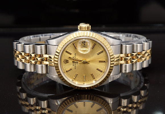 ROLEX 1993 Datejust 26, Steel & Gold, Jubilee, Box & Papers