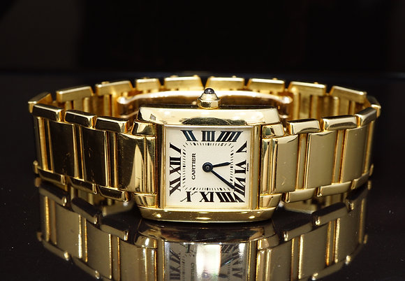 CARTIER Ladies Tank Francaise, W50002N2, 18ct Yellow Gold, Boxed