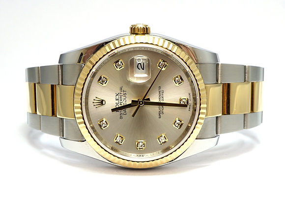 ROLEX 2015 Datejust 36, 116233, Diamond Dot Dial, Box & Papers