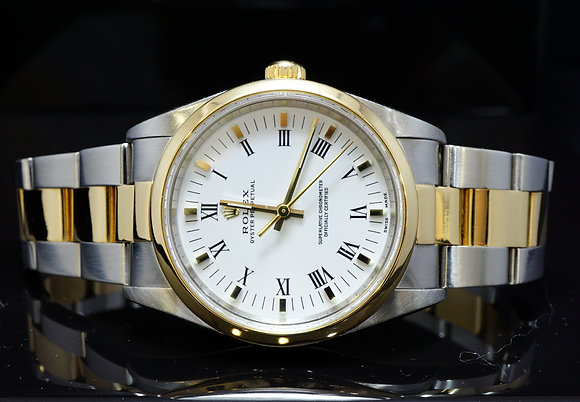 ROLEX 2002 34mm Oyster Perpetual, Steel & Gold, 14203m, MINT, Boxed