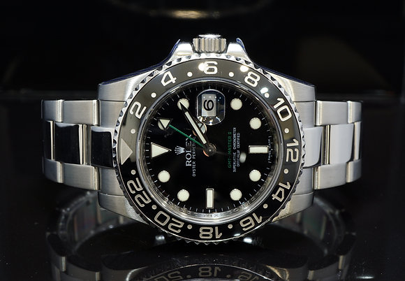 ROLEX 2008 GMT Master II, 116710LN, Serviced by Rolex 04/12/19, Box & Papers