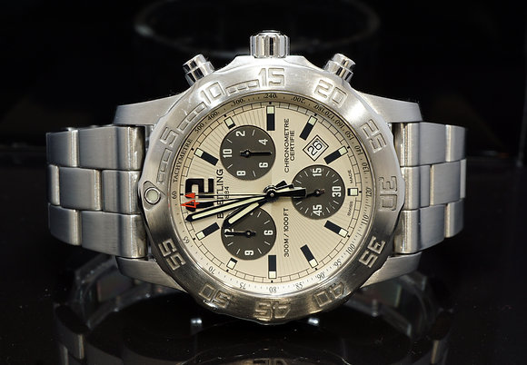 BREITLING 2016 44mm Colt Chronograph II, Quartz, A73387, Box & Papers