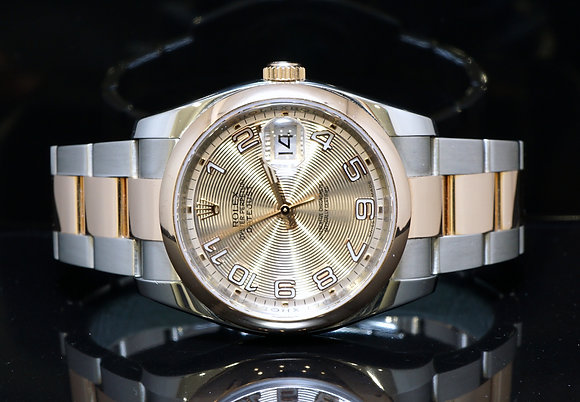 ROLEX 2011 36mm Datejust, Steel & Rose Gold, 116201, MINT, Box & Papers