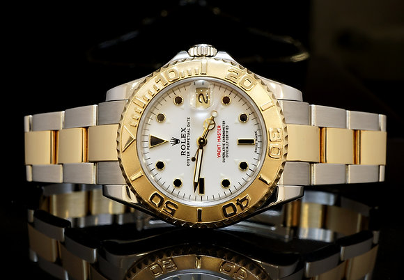 ROLEX Yacht-Master Mid Size, Steel & Gold, 168623, MINT