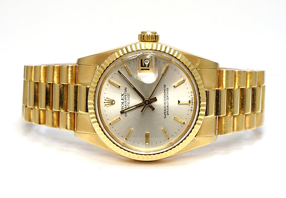 ROLEX 1979 Datejust 31, 6827, 18ct Yellow Gold, President, Box & Papers