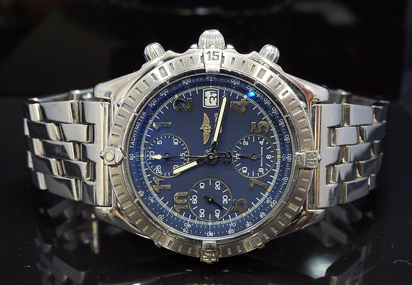 BREITLING Chronomat, A13352, Stainless Steel, Blue Roman