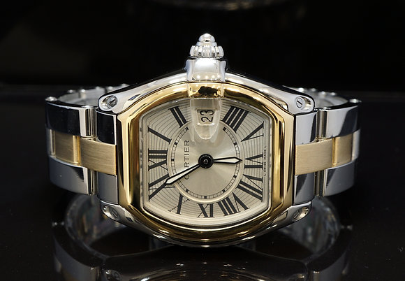CARTIER 2008 Roadster Ladies, Steel & Gold, W62031Y4, with Papers